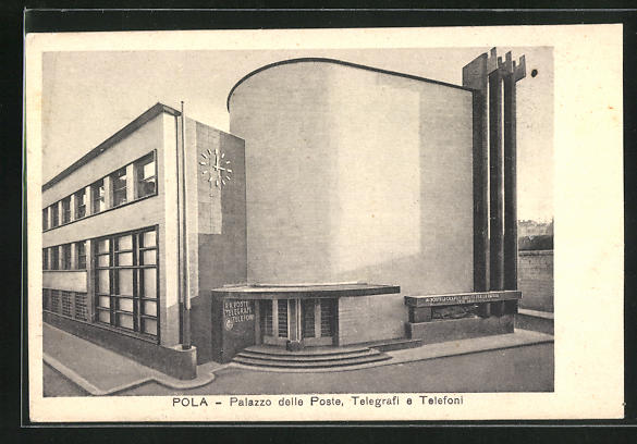 AK Pola, Palazzo delle Poste, Telegrafi e Telefoni