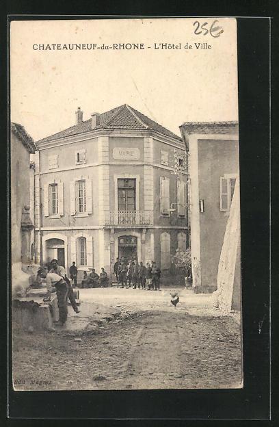 AK Chateauneuf-du-Rhone, l`Hôtel de Ville, Rathaus