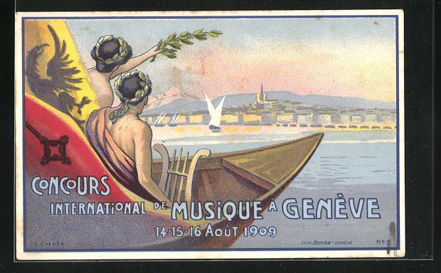 Künstler-Lithographie Genève, Concours International de Musique 1909