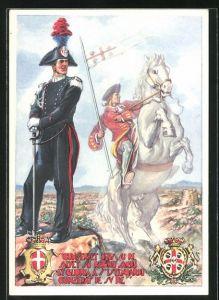 Künstler-AK Legione Territoriale Carabinieri Reali di Cagliari, Dragoni di Sardegna