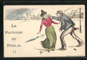 AK Mann versetzt einer Frau einen Faustschlag ins Gesicht, frauenfeindlicher Humor