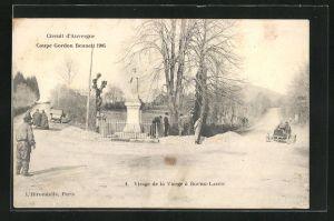 AK Bourg-Lastic, Coupe Gordon-Bennett 1905, Virage de la Vierge, Autorennen