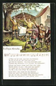 AK Männer mit Schwerter stimmen zum Gesang an, La Ligia Grischa