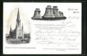 AK Berlin, Kaiser Wilhelm-Gedächtniskirche und ihre Glocken mit Namen
