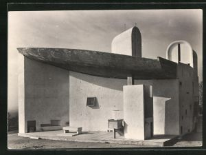AK Ronchamp, Chapelle de Notre-Dame du Haut, Architecte: Le Corbusier, Bauhaus