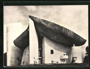 AK Ronchamp, Chapelle de Notre-Dame du Haut, Bauhaus-Architekt Le Corbusier
