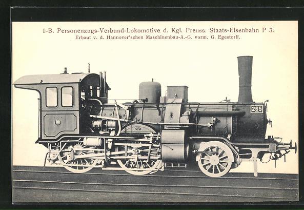 AK Hannov. Maschinenbau -A. -G., Personenzugs-Verbund-Lokomotive d. Kgl. Preuss. Staats-Eisenbahn P 3