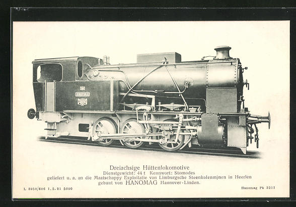 AK Hannover-Linden, Hanomag, Dreiachsige Hüttenlokomotive