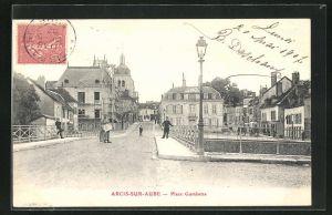 AK Arcis-Sur-Aube, Place Gambetta