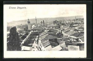 AK Tirana, Teilansicht mit Blick über Häuserdächer