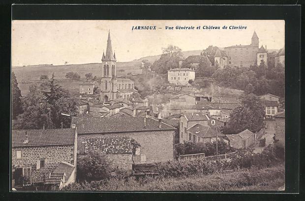 AK Jarnioux, Vue Generale et Chateau de Claviere