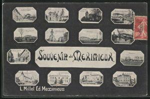 AK Meximieux, Rue de Geneve, Place Vaugelas, Le Seminaire