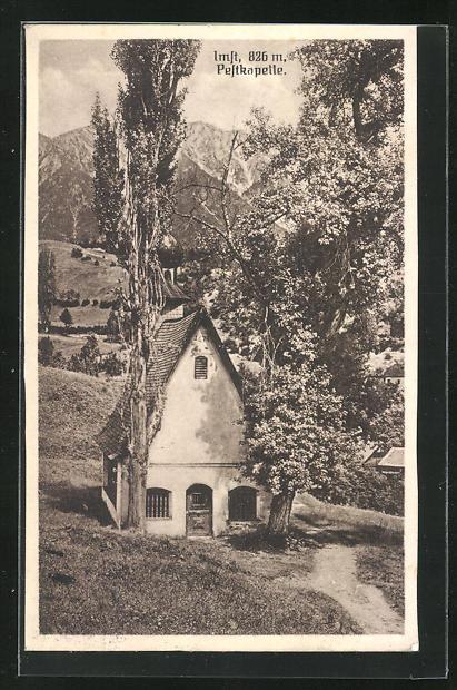 AK Imft, Blick auf Peftkapelle