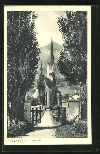 AK Hofgastein, Weg zur Kirche