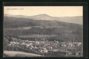 AK Bad Landeck, Ortsansicht aus der Vogelschau