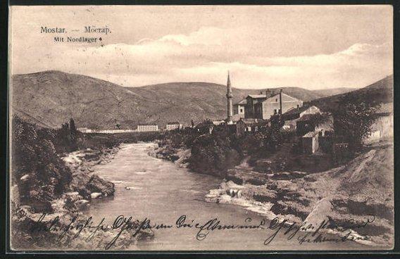 AK Mostar, Teilansicht mit Nordlager