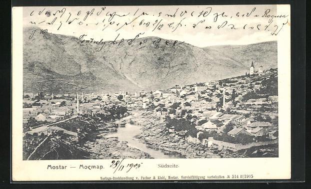 AK Mostar, Teilansicht Südseite