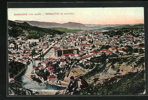 AK Sarajewo, Ortsansicht von Nord