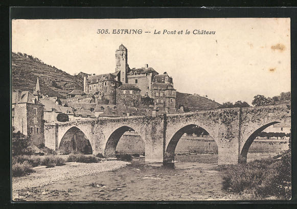 AK Estaing, Le Pont et le Chateau