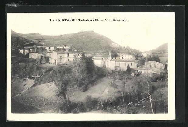 AK Saint-Couat-du-Razes, Vue Generale