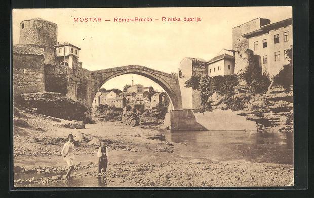 AK Mostar, Rimska cuprija, Römerbrücke