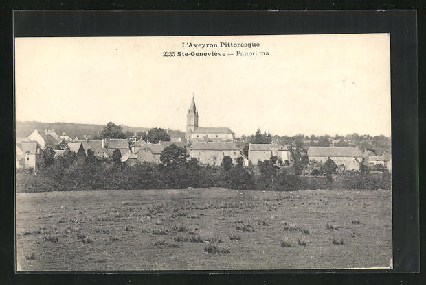AK Sainte-Genevieve, Panorama vom Feld gesehen
