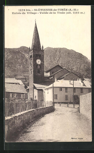 AK St-Etienne-de-tinee, Entree du Village, Vallee de la Tinee