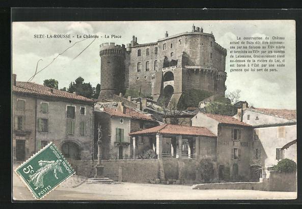 AK Suze-la-Rousse, Le Chateau - La Place