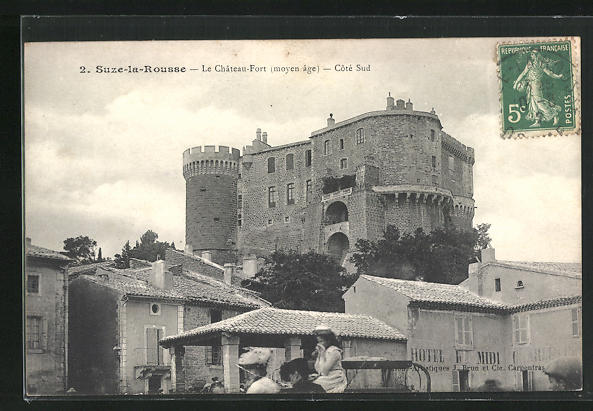 AK Suze-la-Rousse, Le Chateau-Fort (moyen age) - Cote Sud