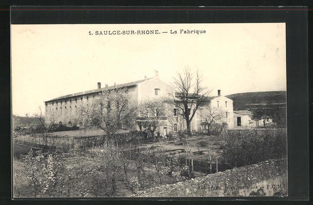 AK Saulce-sur-Rhone, Vue sur la Fabrique