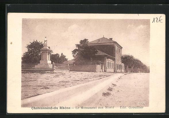 AK Chateauneuf-du Rhone, Le Monument aux Morts