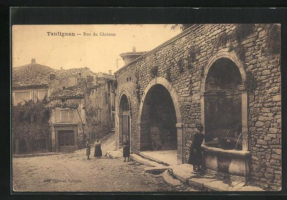 AK Taulignan, Rue du Chateau