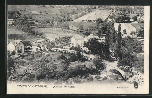 AK Chatillon-en-Diois, Quartier des Villas