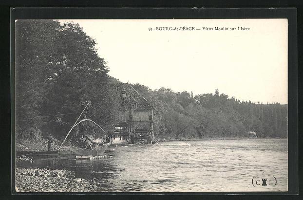 AK Bourg-de-Peage, Vieux Moulin sur l'Isere