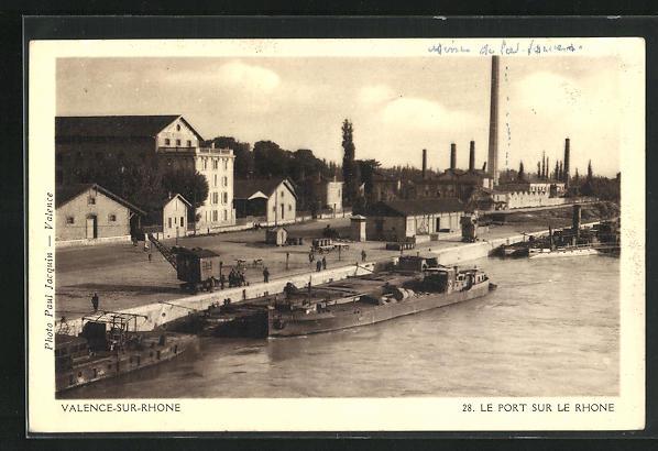 AK Valence-sur-Rhone, Le Port sur le Rhone