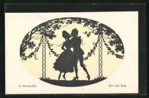 Künstler-AK R. Borrmeister: Der erste Kuss