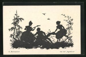 Künstler-AK R. Borrmeister: Aus der Jugendzeit