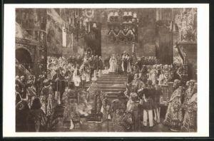 AK Krönungszeremonie Zar Nikolaus II. von Russland