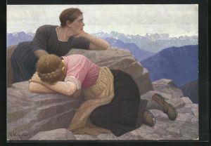 Künstler-AK Thomas Walch: Verlorene Heimat - Süd-Tirol
