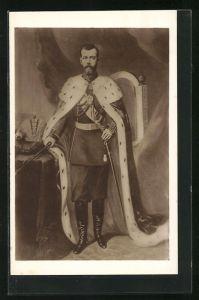AK Zar Nikolaus II. von Russland mit Hermelin
