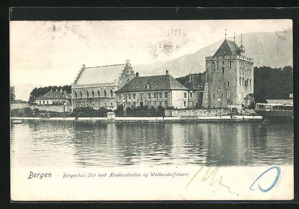 AK Bergen, Bergenhus Slot med Haakonshallen og Walkendorfstaarn