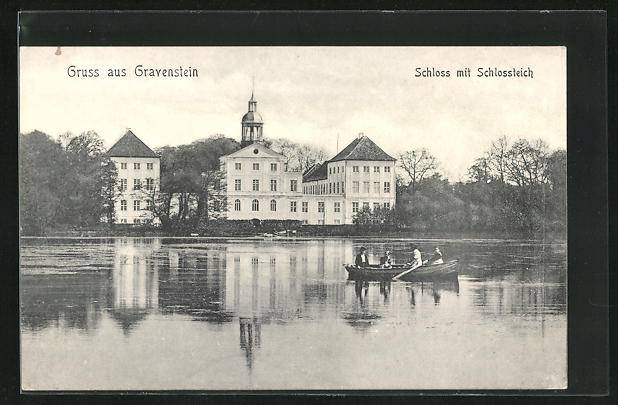 AK Gravenstein, Schloss mit Schlossteich