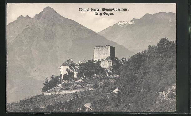 AK Meran-Obermais, Burg Gayen im Gebirge