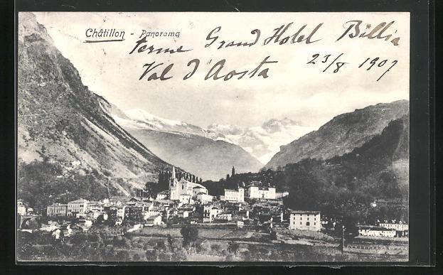 AK Chatillon, Ortspartie im Gebirge