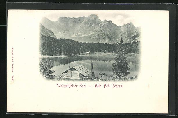 AK Fusine, Blick auf den Weissenfelser See, Bela Pec Jesera
