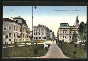 AK Arad, Felsö kereskedelmi iskola és parkrészlet, Ortspartie