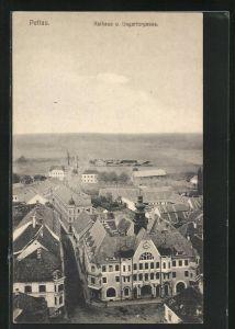 AK Pettau, Rathaus und Ungartorgasse