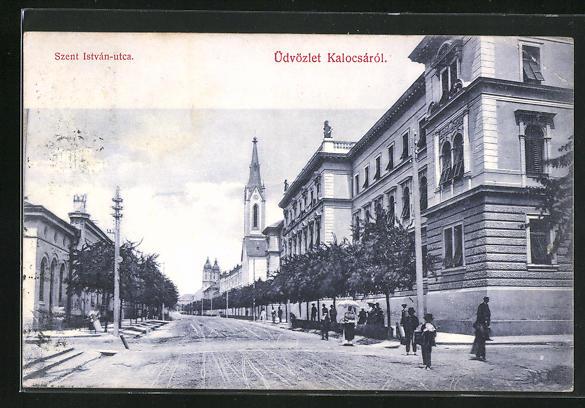 AK Kalocsa, Szent István-utca