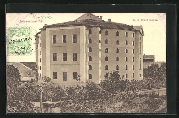 AK Balassagyarmat, M. k. állami fogház, Gefängnis