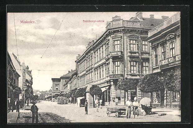 AK Miskolc, Grand Hotel, Széchenyi-utcza